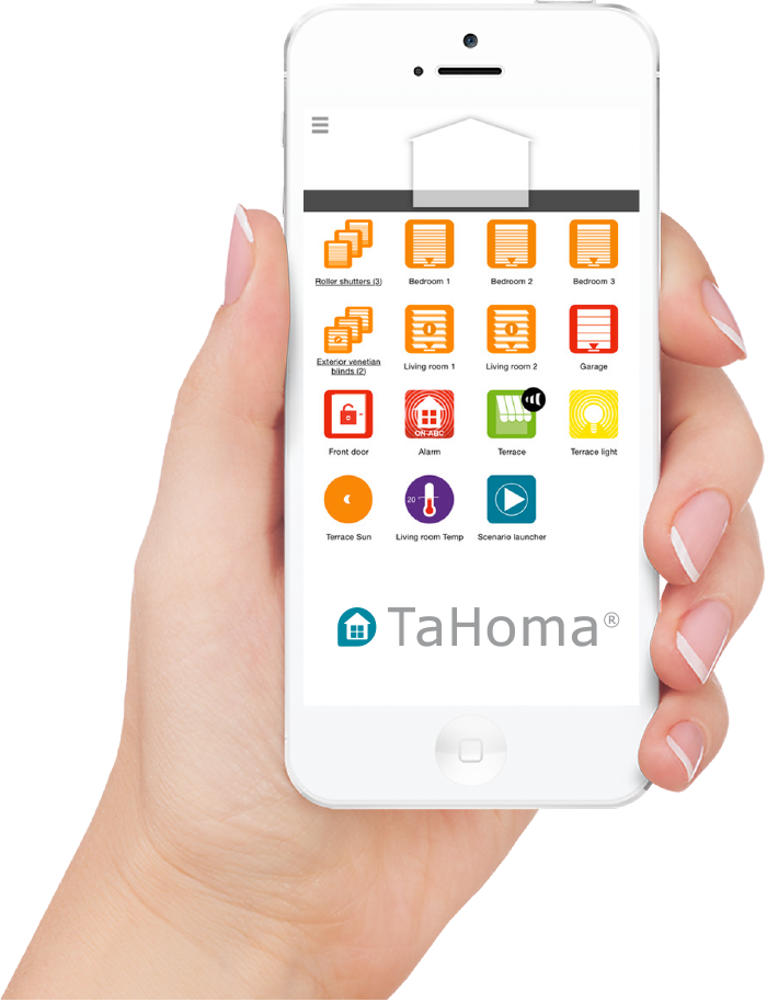 Application TaHoma sur smartphone