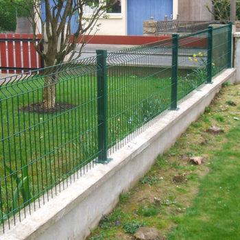 clôtures vertes grillage