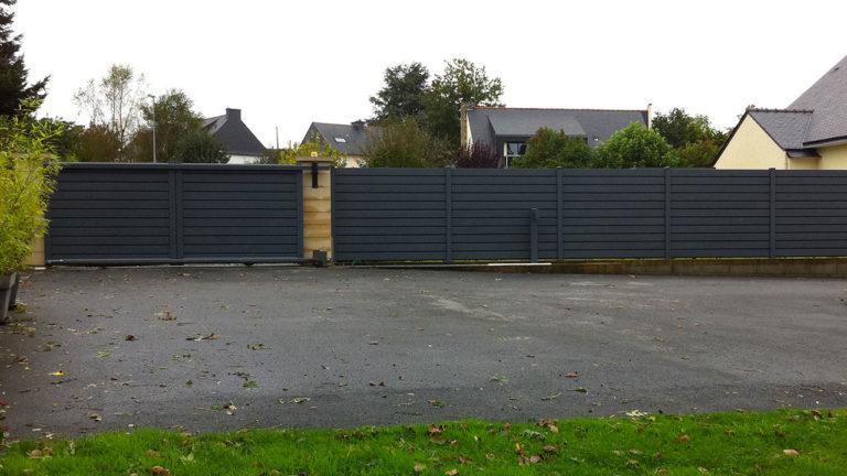 clôtures et garage gris anthracite