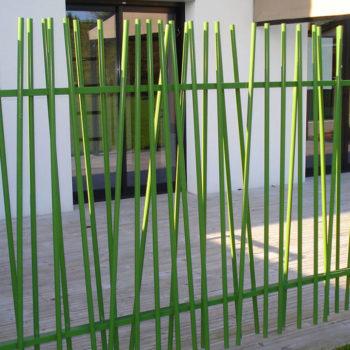 clôtures modernes vertes