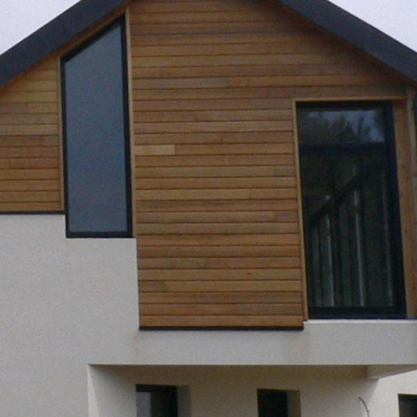 fenêtres aluminium étage bois