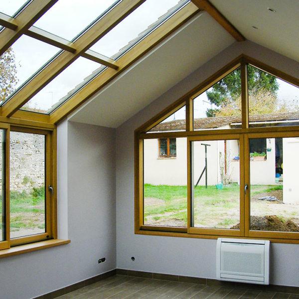 fenêtres et vitres en bois