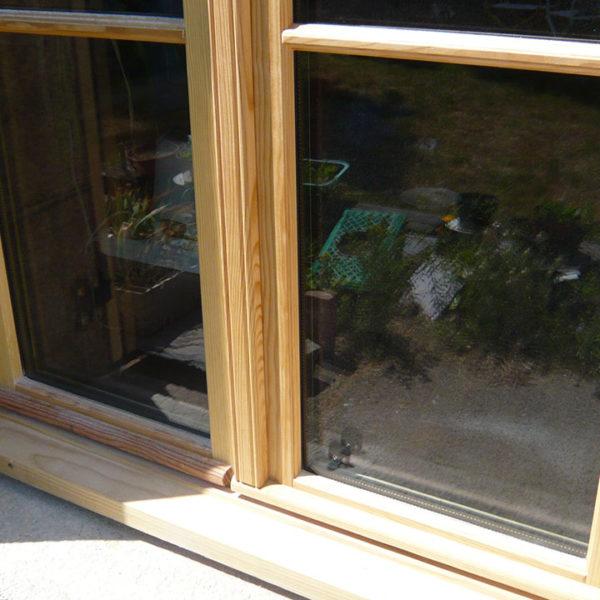 fenêtre en bois détail