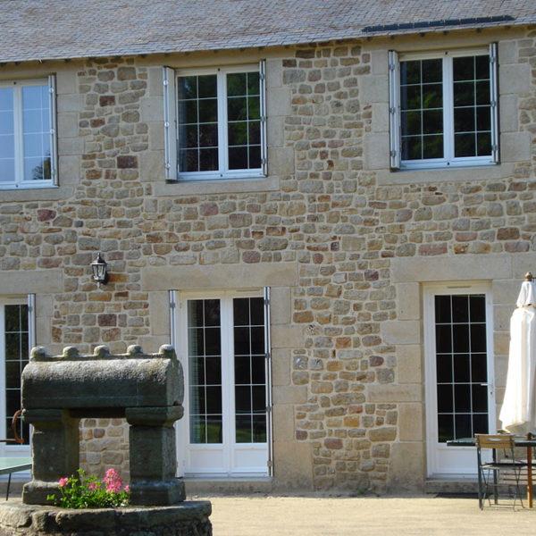 fenêtres en pvc maison de campagne