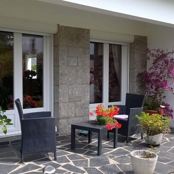 fenêtres en pvc terrasse