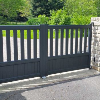portail et portillon aluminium contemporains gris anthracite