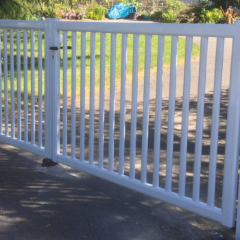 portail aluminium privilège ajouré blanc