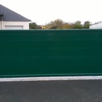 portail aluminium privilège vert sapin