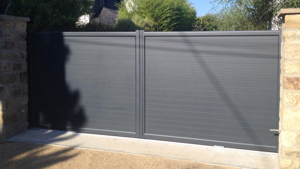portail aluminium privilège gris
