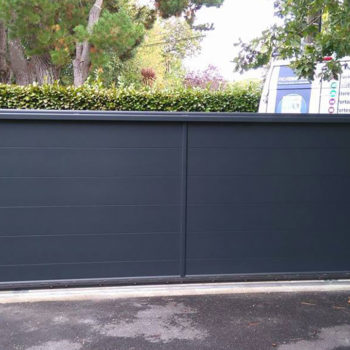 portail aluminium privilège noir (intérieur)