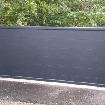 portail aluminium privilège noir (extérieur)