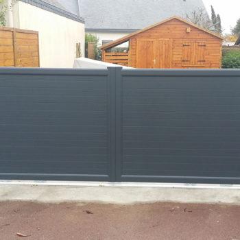 portail aluminium privilège gris anthracite