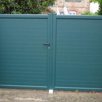 portail aluminium privilège vert