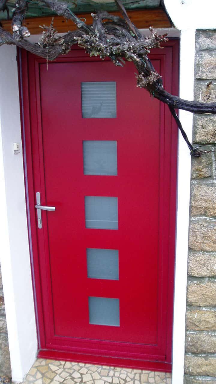 Porte D Entrée Rouge porte d'entrée aluminium bretagne : découvrez nos portes d