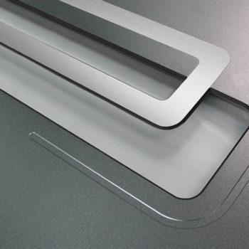 porte d'entrée aluminium noire vitre détail