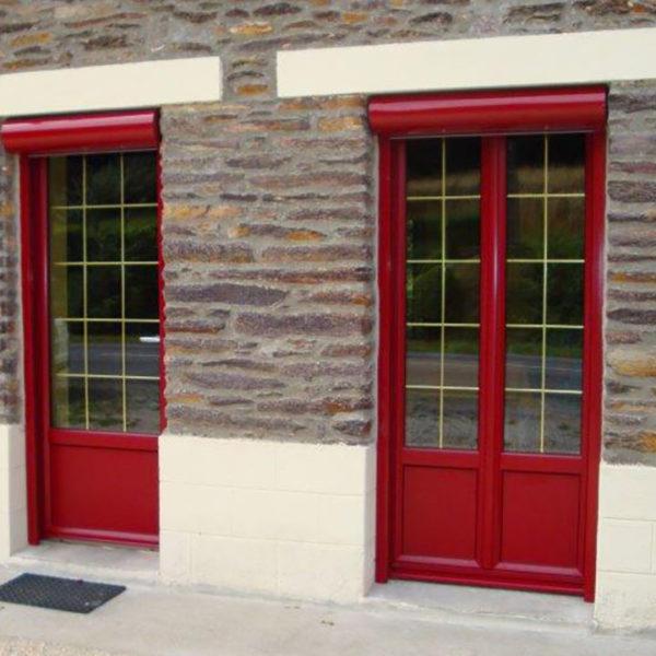 rénovation volets sur des baies vitrées