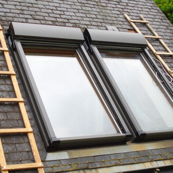 volets posés fenêtres de toit fermées