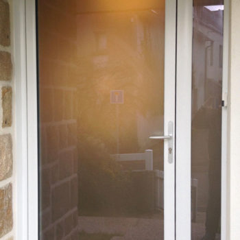 porte d'entrée pvc intégralement vitrée