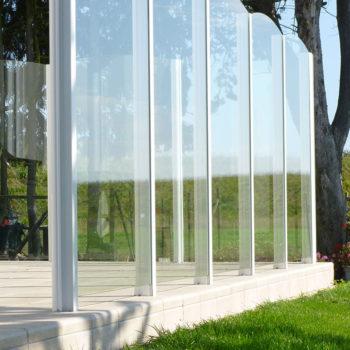 pare-vent blanc terrasse