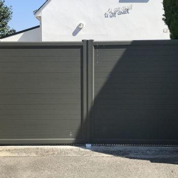 portail aluminium privilège vert kaki