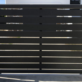 portail aluminium privilège coulissant noir (extérieur)