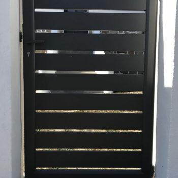 portail aluminium privilège noir (portillon extérieur)