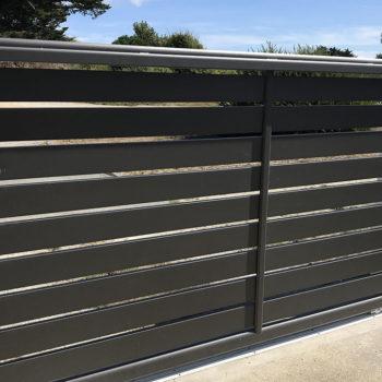 portail aluminium privilège coulissant noir (intérieur)