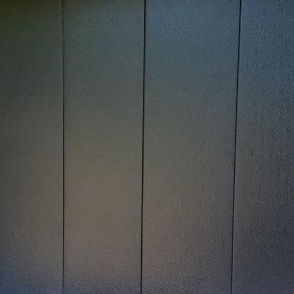 porte de garage latérale noire avec hublots