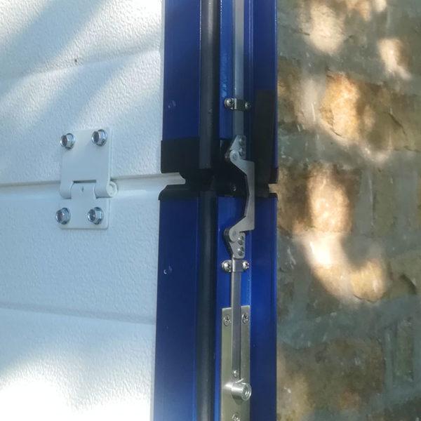 porte de garage sectionnelle détail porte
