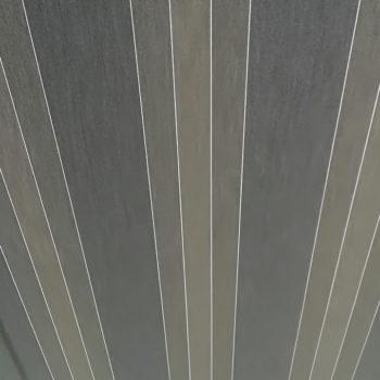 store banne rayé gris détail