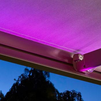 store banne lumière violette
