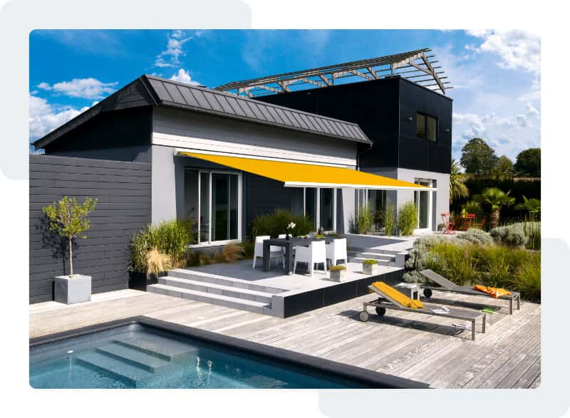 Des stores de protection solaire