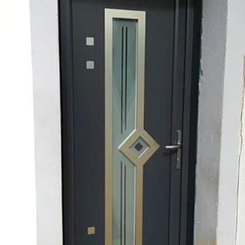 Porte d'entrée Aluminium vitré et avec motifs occultants