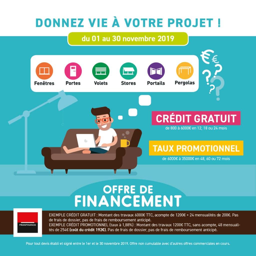 Flyer offre de financement / Pro-Fermetures
